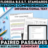 FSA Reading Paired Passages Practice Tests | Grades 3-5 |