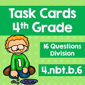 Task Cards 4.NBT.B.6 Division