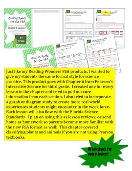 FSA Prep - Florida Science Interactive - Pearson - Chapter 6 - Classifying