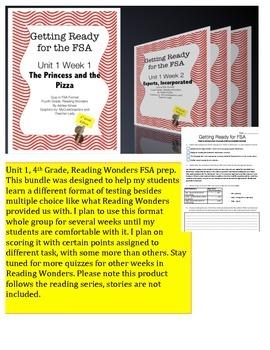 FSA Prep - Fourth Grade - Unit 1 Bundle