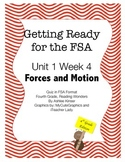 FSA Prep - Fourth Grade - Unit 1 Week 4 - Crash Course in Force and Motion