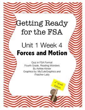 FSA Prep - Fourth Grade - Unit 1 Week 4 - Crash Course in