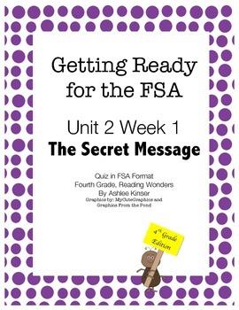FSA Prep - Fourth Grade - Unit 2 Week 1 - The Secret Message