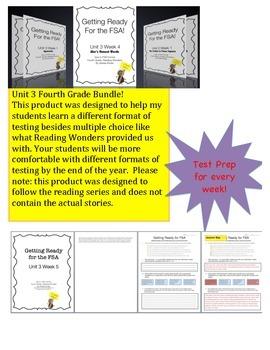 FSA Prep - Fourth Grade - Unit 3 Bundle