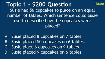 FSA Prep Jeopardy! Multiplication - MAFS.3.OA.1.1
