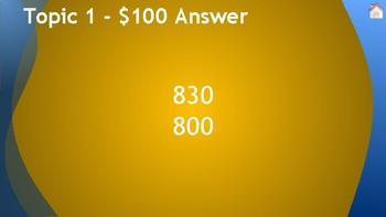 FSA Prep Jeopardy! Rounding - MAFS.3.NBT.1.1