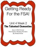 FSA Prep - Unit 4 Week 2 - Third Grade - Talented Clementine