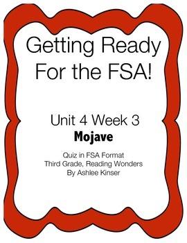 FSA Prep- Unit 4 Week 3 - 3rd Grade - Reading Wonders- Mojave