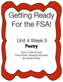 FSA Prep - Unit 4 Week 5 poetry - 3rd Grade - Reading Wonders