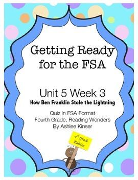 FSA Prep - Unit 5 Week 3 - 4th Grade - How Ben Franklin Stole the Lightning