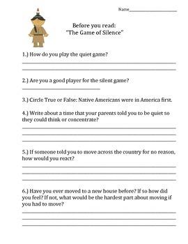 FSA Prep- Unit 6 Week 1 - 4th Grade - The Game of Silence