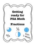 FSA Assessment Quiz, Go Math, Fractions Part 1, Basic Fractions