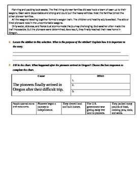 FSA Quiz - Mcgraw Hill 3rd Grade - Long Road to Oregon