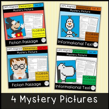 FSA Reading Mystery Picture Bundle Grades 3-5 (Florida Standards Assessment)