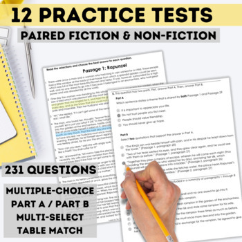 FSA Reading Practice Test Bundle (Florida Standards Assessment)