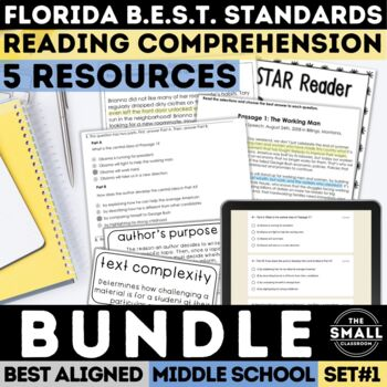 FSA Reading Test Prep Bundle (Florida Standards Assessment)