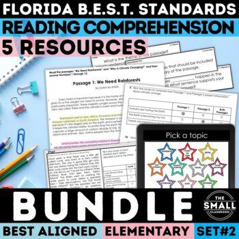 FSA Reading Test Prep Bundle II Grades 3-5 (Florida Standards Assessment)