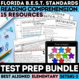 FSA Reading Test Prep Bundle Grades 3-5 (Florida Standards Assessment)