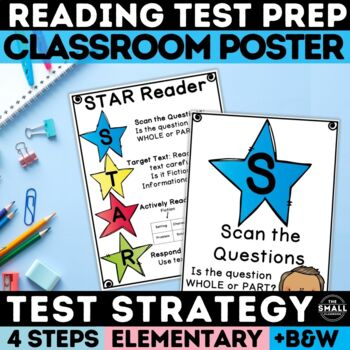 FSA Reading Test Taking Strategy Poster Grades 3-5