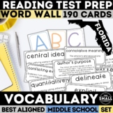 FSA Reading Vocabulary Word Wall (Florida Standards Assessment)