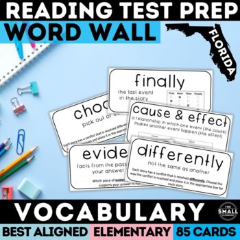 FSA Reading Word Wall: Vocabulary & Question Stems Grades 3-5