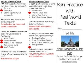 FSA Real World Text Practice - Magic Kingdom Guide Map (FL)