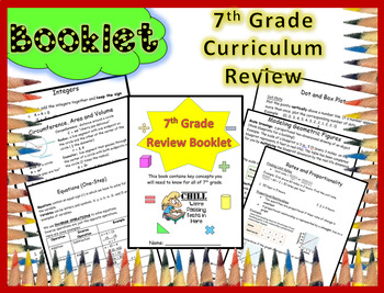 FSA, Regents, End of Year Assessment, 7th Grade Math Review Booklet