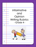 FSA Scoring Rubric for Informative and Opinion Essays