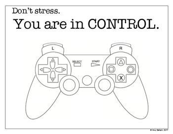 FSA Sign, You Are In Control! Freebie