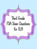 FSA Stem Questions for 3rd Grade ELA