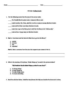 FSA Style Quiz- Finding Lincoln