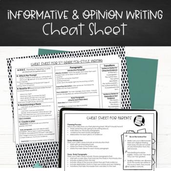 FSA Style Writing Cheat Sheets 4/5th grade