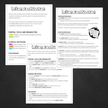 FSA Style Writing: Editing and Revising student handout