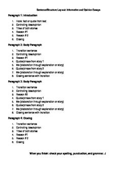 FSA-Style Writing Layout