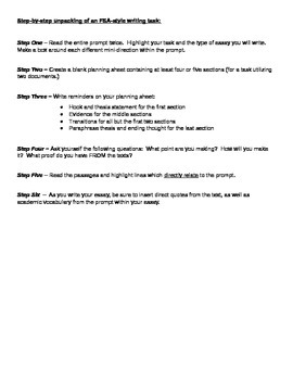 FSA Style Writing Step-By-Step Instructions, Sources and Examples