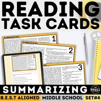 FSA Summarizing Task Cards (Florida Standards Assessment)