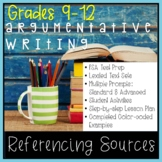 FSA Test Prep Referencing Sources in Argumentative Text Ba