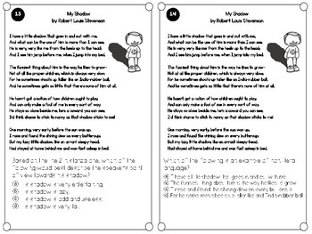 FSA Test Prep Task Cards: Poetry