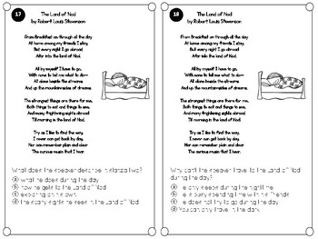 FSA Test Prep Task Cards: Poetry and Point of View