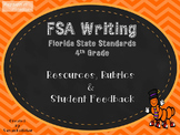 FSA-Writing 4th Grade Rubrics, Resources, & Student Feedback