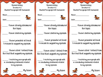 FSA-Writing 4th Grade Rubrics, Resources, & Student Feedback