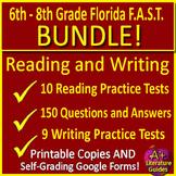 FSA Writing AND Reading Test Prep Big Bundle - Printable & Self-Grading Google!