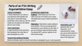 FSA Writing Argumentative Essay - Rubrics, Examples, and Group Collaboration