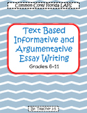 FSA Writing / Common Core Writing Packet Grades 6-11