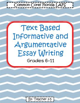 FSA Writing / Common Core Writing Packet Grades 6-11