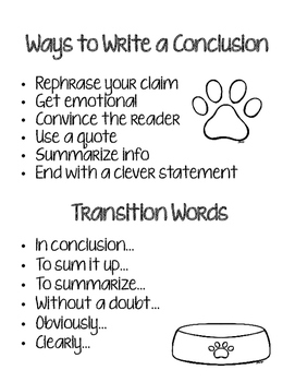 "FSA Writing...""Dog-gone Good"" Conclusions (Opinion Essays)"