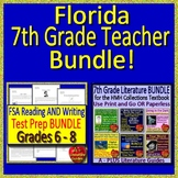 FSA Reading, FSA Writing and HMH Collection 4 - Florida 7th Grade Teacher Bundle