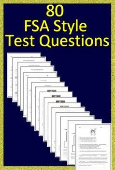 FSA Reading, FSA Writing and HMH Collection 4 - Florida 7th Grade Teacher Bundle