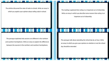FSA Writing Flipping the Prompts Task Cards