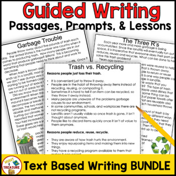 FSA Writing 4th and 5th Grade | Text Based Writing Lessons BUNDLE